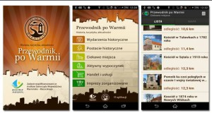 """Nowa aplikacja mobilna """"Przewodnik po Warmii"""""""