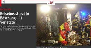 Wypadek autokaru z Olsztyna w Niemczech
