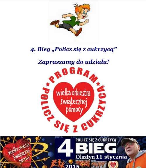 """4. Bieg """"Policz się z cukrzycą"""" @ Start Olsztyn -Ratusz - Meta – Szkoła Podstawowa nr 15"""
