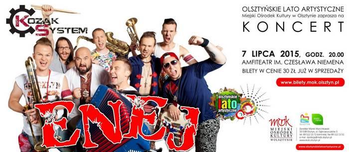 Koncert zespołów Enej i Kozak System @ Amfiteatr im. Czesława Niemena | Olsztyn | śląskie | Polska