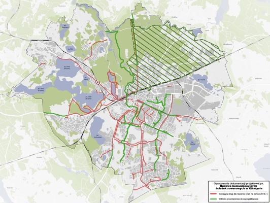Aktualne i planowane ścieżki rowerowe na terenie Olsztyna
