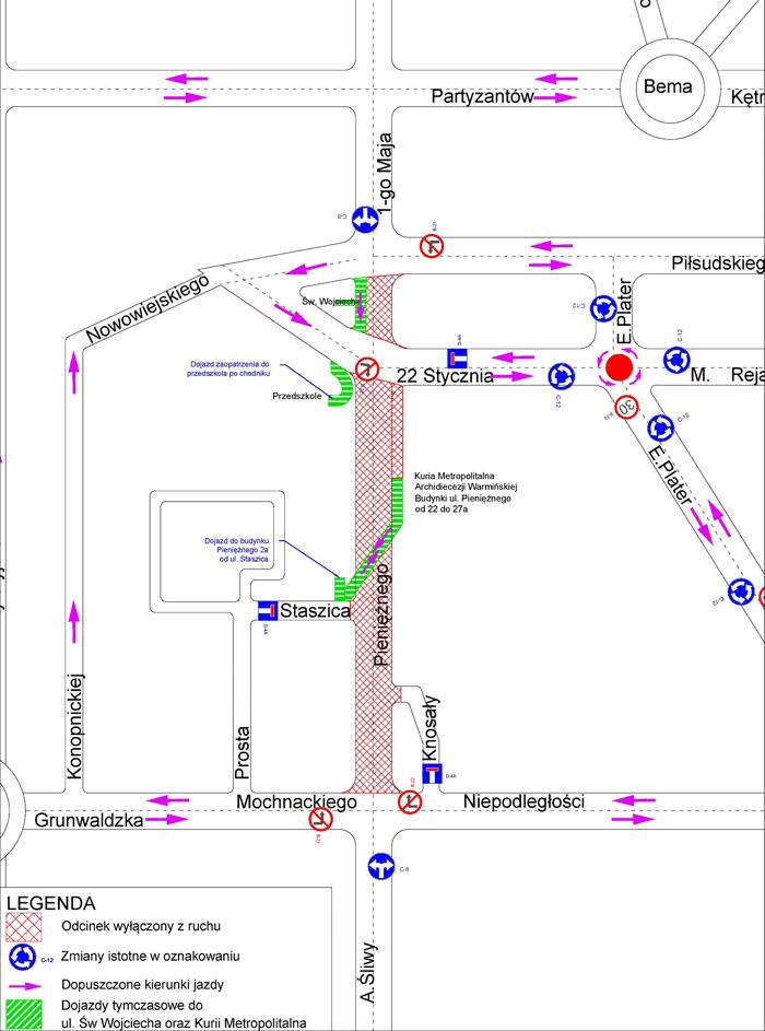 Pienieznego_Dojazd_od_Staszica_mapa