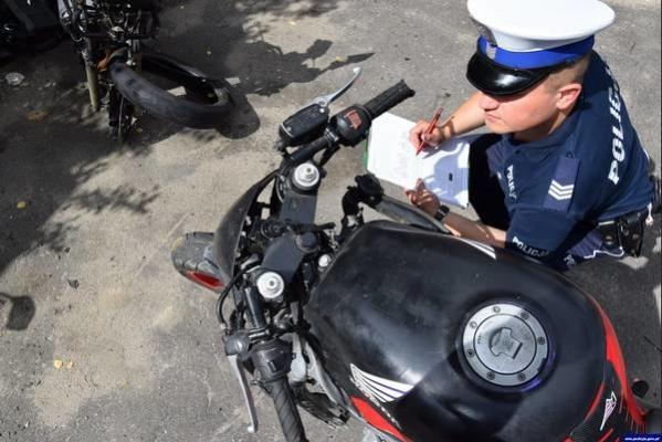 motocykl-policjant