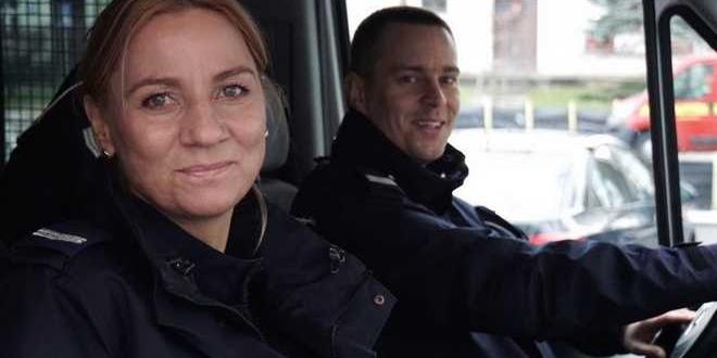 st. sierż. Adrianna Kowalewska i sierż. szt. Arkadiusz Wernerowski / fot. policja.gov.pl